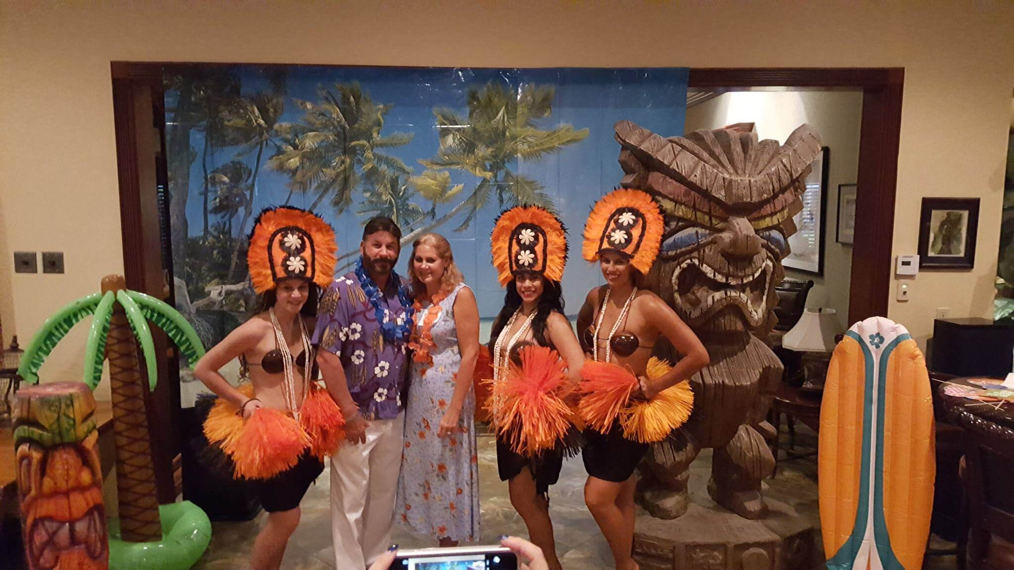 wedding luau theme Florida