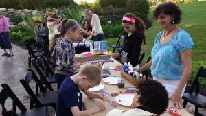 Shell-painting-kids-party